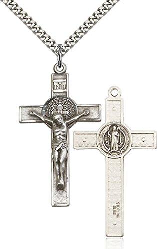 Sterling Silver Cross Pendant 24 Chain